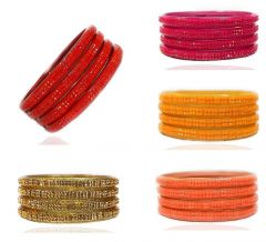 Priya Kangan Adorable Shine Colours Glass Bangles with Sharp & Glossy Shine Colour for Dailywear Workwear Or Any Other Occasional Type (Pack of 25 Bangles)