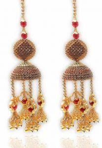 Priya Kangan Red Gold Plated Plastic Punjabi Kalire For Women (2 Pieces)