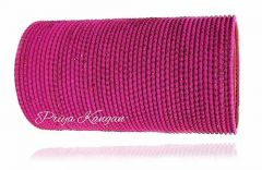 Priya Kangan Excellent Beautifull Zari Dotted Nion Coloured Metal Bangle Churi Match with Any Attire for Girls or Women (Magenta) (Pack Of 48)