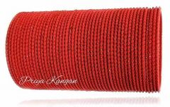 Priya Kangan Excellent Beautifull Zari Dotted Nion Coloured Metal Bangle Churi Match with Any Attire for Girls or Women (Red) (Pack Of 48)