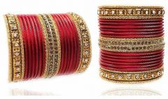 Royal Designer Beautiful Metal Bangles Set For Wedding, Anniversary, Festivals & Any Other Occasions For Girls or Women (Pack of 44 pcs Bangles)