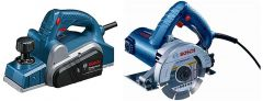 Bosch Gho 6500 Professional Planer With Gdc 121 Marble Cutter 5 Inch Gdc 121 Combo (Pack Of 2)