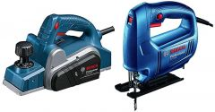 Bosch Gho 6500 Professional Planer With 06015A80F0 Gst 650 Professional Jigsaw (Pack Of 2)