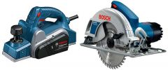 Bosch Gho 6500 Professional Planer With Gks 190 7-Inch Circular Saw Combo (Pack Of 2)