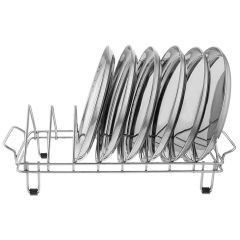 Vaishvi Stainless Steel Plate Rack | Dish Stand | Utensil Rack | Chrome Plated for Kitchen (Pack of 1)