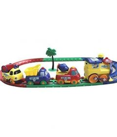 Battery Operated Cartoon Play Train Extreme Speedy Racing Set (Pack Of 1 Set)