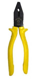 SKY BLUE Combination Plier For Home & Professional Use and Electrical Work |8 Inch| (Black & Yellow) (Pack of 1)
