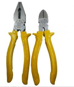 SKY BLUE Steel Combination |8 Inch| Pliers & Side Cutter For Cutting And Bending Wire (Yellow) (Pack Of 2)