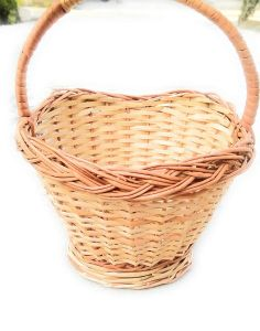 Pooja Basket for Temple with Handle [Handmade] | Worship Basket for Temple Purpose & Storage Organizer (Pack of Three)