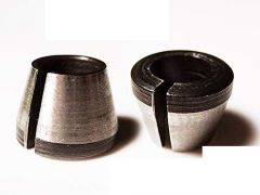 THS Taher Hardware Carbon Steel 1/4 Collet Trimmer Cone (6 mm and 6.35 mm) (Pack of 2)