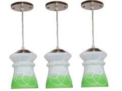 VAGalleryKing Decorative Hanging Pendant Ceiling Lamp Pack Of 3 | Green