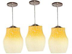 VAGalleryKing Decorative Hanging Pendant Ceiling Lamp Pack Of 3 | Yellow