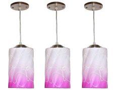 VAGalleryKing Decorative Hanging Pendant Ceiling Lamp Pack Of 3   Pink