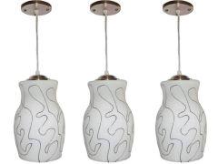 VAGalleryKing Decorative Hanging Pendant Ceiling Lamp Pack Of 3   White