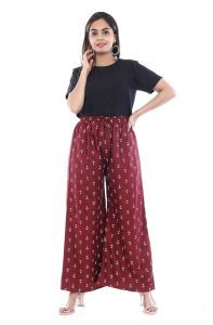Women's Stretch Fit Rayon Printed Palazzo