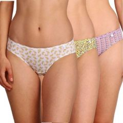 JOCKEY Comfortable and Elastic Printed Cotton Panty For Women's (Multi-Color) (Pack Of 3)