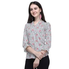 GP Daisy Stlyish Flower Printed 3|4 Sleeves Casual Wear Top for Womens