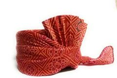 Prakashstore Rajasthani Traditional Ethnic Chunri Print Pagdi, Safa For Men (Red)
