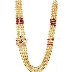 Prakashstore Groom Traditional Necklace Moti Mala 250 Cm For Men (Pack Of 1)