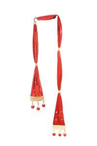 Prakashstore Trendy Design Dulha Stole Free Size (Red) (Pack Of 1)