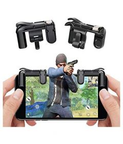 ZMO PUBG Mobile Gamepad Trigger for 4 Fingers, Metal Touch Button, Transparent Design