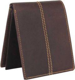 Men Brown Genuine Leather RFID Wallet  (11 Card Slots)
