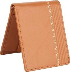 Men Brown Genuine Leather RFID Wallet  (3 Card Slots) (Pack of 1)
