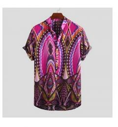 Regular Fit Polycotton Half Sleeves Casual Shirt For Men's (Purple) (Pack of 1)