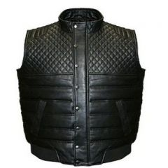 ASPENLEATHER Franchise Club Quilted Leather Vest