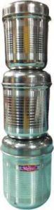 Mehul-Airtight Steel Storage Tea,Coffee & Sugar Container Set 1200ml(3 Pieces,Silver)