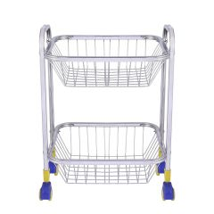 PALOMINO Stainless Steel Fruit and Vegetable Rectangular Kitchen Rack Trolley (2 Tier)