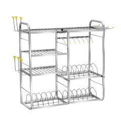 Palomino Stainless Steel 4 Layer Kitchen Rack for Modern Kitchen (Silver)