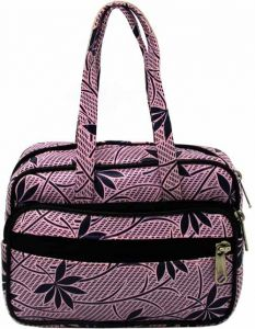 AE EXCELLENT Hand-Held Bag With 5 Zip Compartments For Womens, Small Size (Pack of 1)