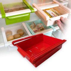 Fridge Space Saver Organizer Slide Storage Racks Shelf for Fridge (1 pcs)