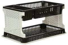 Kitchen Organiser Rack Plastic Kitchen Rack with Water Collecting Tray