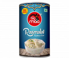 Big Maa Ready To Eat Indian Sweets Rasmalai For Good Taste (500 G) (Pack of 1)