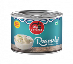 Big Maa Ready To Eat Indian Sweets Rasmalai For Good Taste (200 G) (Pack of 1)