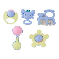 Baby Kids Rattle Toys Set For Newborn Boy Girls Infants And Toddlers (Pack Of 5 Pcs)