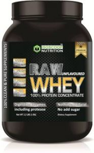 Iso scoop nutrition Raw Whey Protein Powder Unflavored flavored 1 KG Whey Protein  (1 kg)