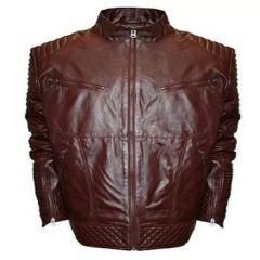 ASPENLEATHER Franchise Club Raw x Leather Jacket Deep For Men's (Burgundy)