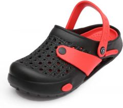 Stylish & Fashionable Flip Flops Comfortable Slippers Clogs For Men's-Black/Red