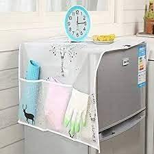 Homeoculture Transparent Printing Waterproof Refrigerator Cover