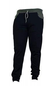 KGN Regular Fit Men Black Cotton 4-Ways Blend Sports Lower