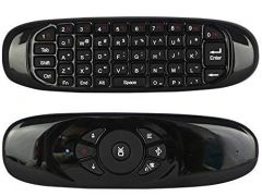 Rechargeable Mini Wireless Keyboard 3D Air Fly Mouse Remote Control for Android TV Box, Computers and Smart TV (Black) (Pack of 1)