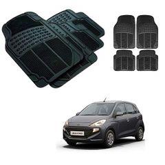 After Cars Black Carpet Floor/Foot 4D Rubber Mats for Hyundai Santro 2019 Car