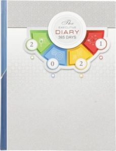 Toss 2021 B5 Diary Ruled 365 Pages (S-31) (Pack OF 1)