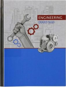 Toss Engineering Diary B5 Diary Single Rule 382 Pages (Blue) (Pack Of 1)