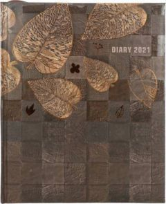 Toss Metallic 2021 A4 Diary Ruled 330 Pages (Brown) (S-39) (Pack Of 1)