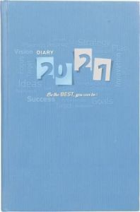 Toss 2021 A5 Diary Ruled 330 Pages (Blue) (S-43) (Pack OF 1)