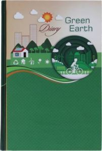 Toss 2021 A5 Diary Ruled 330 Pages (Green) (S-49) (Pack Of 1)